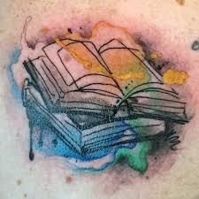 male torso bookagical colors tattoo