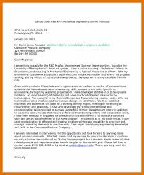 Cover Letter Engineering Classy 4848 Engineering Internship Cover Letter Leterformat