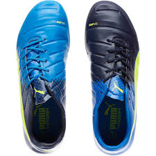 puma indoor soccer shoes for men. puma men shoes evopower 1.3 fg firm ground soccer cleats peacoat-electric blue indoor for