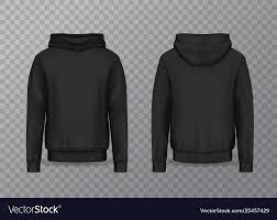 Black Hoodie With Design Realistic Men Hoodie Or Black 3d Hoody Sweatshirt
