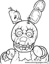 Fnaf Coloring Pages Golden Freddy Printable Free Five Nights At