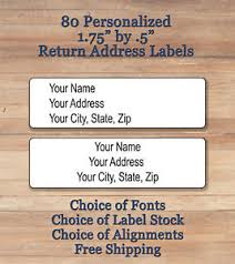 Printed Return Address Label Details About 80 Plain Personalized Self Adhesive Printed Return Address Labels Choice Of Font