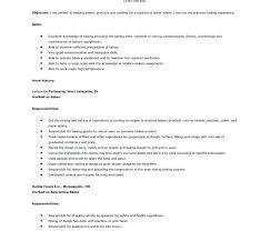 Sample Baker Resume Download For Bakery Job Sample Resume Baking And