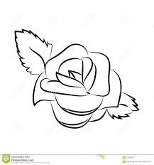 Simple Stencil Designs Simple Vector Rose Design Of A Flower Silhouette Isolated