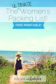 Printable Packing List For Travel The New Wifestyle