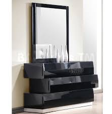 Delightful Milan Dresser And Mirror In Black Lacquered Finis On Contemporary Bedroom  Furniture Sets A Stylform Nyx