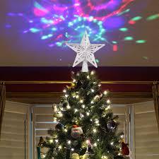 Lighted Globe Led Revolving Tree Topper Best Led Christmas Tree Topper Star Indoor Decoration Light