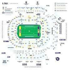 Doak Stadium Seating Chart Tiger Stadium Seating Chart With Rows Lsu Tiger Stadium