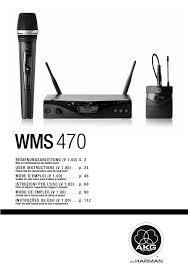 Akg Wms 470 Frequency Chart Akg Wms 450 Service User Manual Manualzz Com