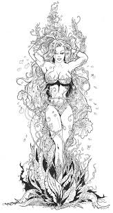 Harley Quinn Poison Ivy Coloring Pages