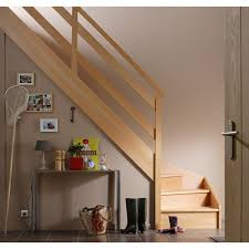 Escalier Soft Quart Tournant Bas Gauche H274 Rampe Wood Structure