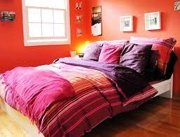 Contemporary Fresh Orange Bedroom Interior Galleries and Ideas