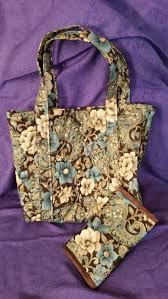 Floral quilted bag floral tote bag floral book tote quilted & Like this item? Adamdwight.com