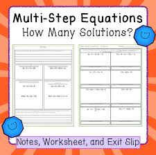 solving multi step equations with