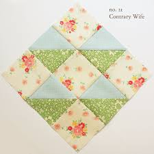 Contrary wife block. If the patterned pieces were yellow instead ... & By nanacompany