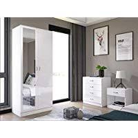 Amazon.co.uk: White - Bedroom Wardrobe Sets / Bedroom Furniture ...