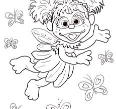 Sesame Street Birthday Coloring Pages Free 1st Happy Staggering