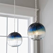 sea and sand globe art glass pendant