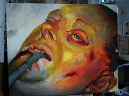 saatchi art artist jennifer watson painting transcription of a jenny saville piece