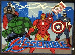 Marvel Bedroom Avengers Kids Childrens Rug Mat Bedroom Play Soft