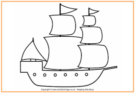 Pilgrim Ship Colouring Page Thanksgiving Colouring Pages For Kids