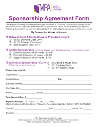 Best Ideas For Event Sponsorship Form Template With Format Sample