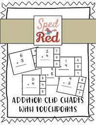 Touch Math Addition Clip Charts