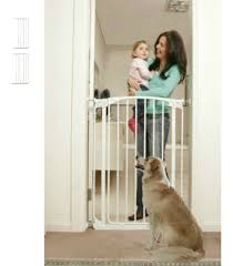 Extra Tall Swing Close Baby Gate Plus 14 and 17.5 – White (39.4H, 61 ...