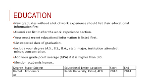 How To Add Education To Resume Where To Add Experience In Resume
