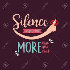 Royalty Quotes Classy Silence Says A Lot More Than You Think Quotes Royalty Free Cliparts