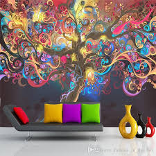 >tree of life photo wallpaper psychedelic wallpaper custom 3d wall  tree of life photo wallpaper psychedelic wallpaper custom 3d wall mural art bedroom hotel bar shop art room decor natural scenery wallpaper cell phone