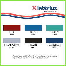 Brightside Marine Paint Color Chart Interlux Bottom Paint Color Chart