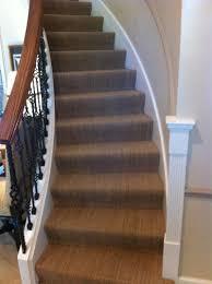 sisal carpet install on circular staircase in glencoe
