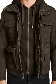 sherpa lined hooded military jacket