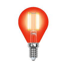 <b>Лампа Uniel LED-G45-5W/RED/E14 GLA02RD</b> светодиодная ...
