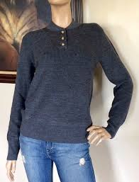 uniqlo jw anderson women dark gray military sweater nwt size xs