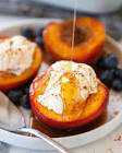 baked nectarines  or peaches