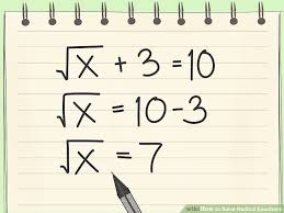how to solve radical equations 12 steps with pictures wikihow solving radical equations calculator step by free tessshlo