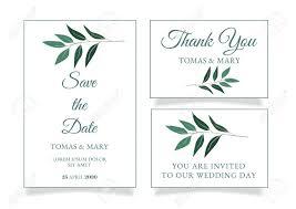 Wedding Invitation Templates With Photo Rustic Wedding Invitation Template With Little Green Leaf Printable