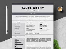 Creative Resume Word Template One Page Creative Resume Template By Resume Templates Dribbble