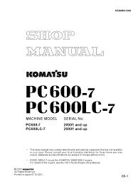 komatsu shop manual pc400 pc450 engineering tolerance gear