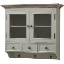 new lyon wall mounted display cabinet with hooks drawers shabby chic kitchen cabinet doors