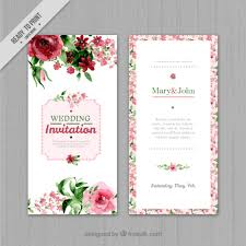 invitation t watercolor floral wedding invitation vector free download