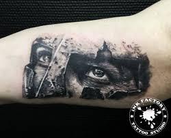 глаза спартанца сделано в Inkfactory