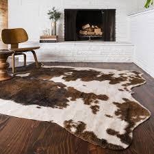 alexander home rawhide beige brown rug 5 x 6 intended for animal hide rugs prepare 2