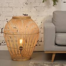 Tuvalu Floor Lamp Bamboo L Goodmojo