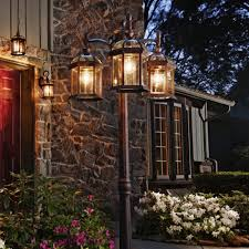 details about portfolio outdoor lamp post light fixture 3 lights lantern with post