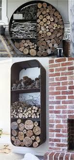 Furniture Accessories:Wall Mounted Firewood Storage Design Ideas Simple  Easy Diy Firewood Storage Designs Creative