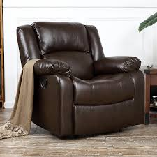 belleze deluxe padded brown faux leather recliner chair lounge club faux leather recliner b43