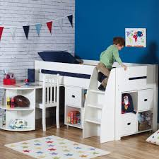 QUICKSHOP: Merlin Mid Sleeper Bed with a Storage Unit & a Pull-out Desk